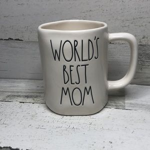 Rae Dunn WORLD'S BEST MOM mug white LL NEW